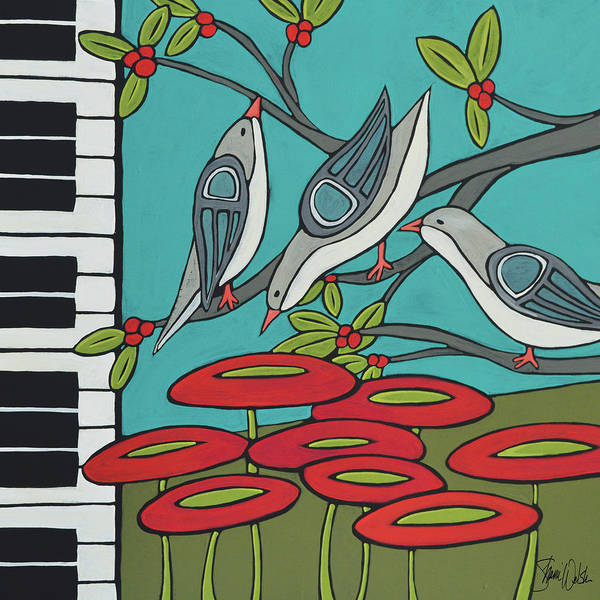 Pianos Painting - Song Birds by Shanni Welsh