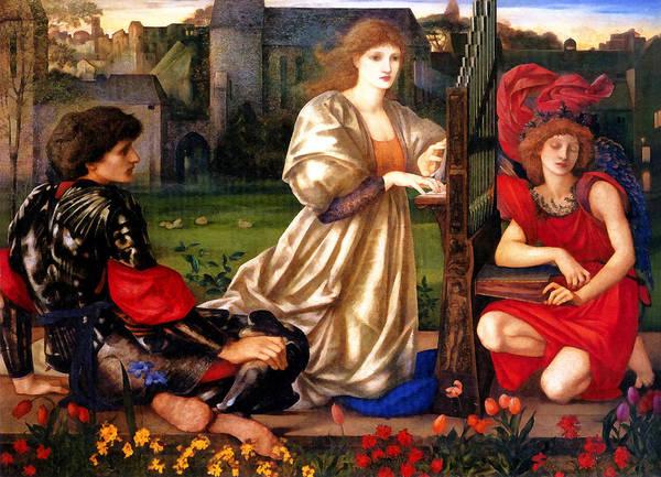 Harp Digital Art - Song Of Love by Edward Burne Jones