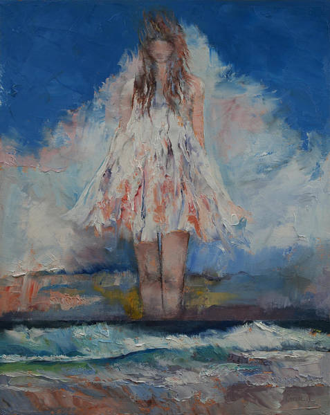 Frau Painting - Song Of September by Michael Creese