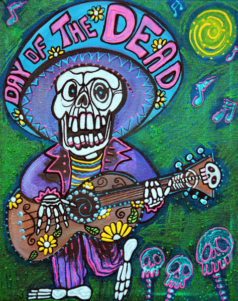Wall Art - Painting - Song Of The Dead by Laura Barbosa