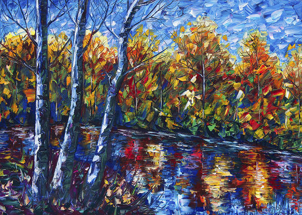 Painting - Song Of The Water by OLena Art - Lena Owens