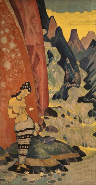 Nk Roerich Painting - Song Of The Waterfall by Nicholas Roerich
