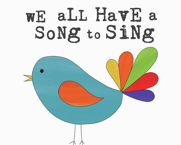 Nursery Painting - Song To Sing by Alli Rogosich