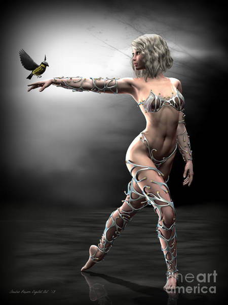 Digital Art - Songbird by Sandra Bauser Digital Art