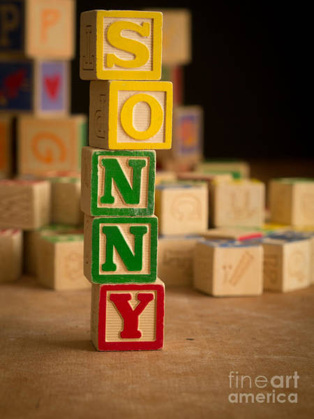 Wall Art - Photograph - Sonny - Alphabet Blocks by Edward Fielding