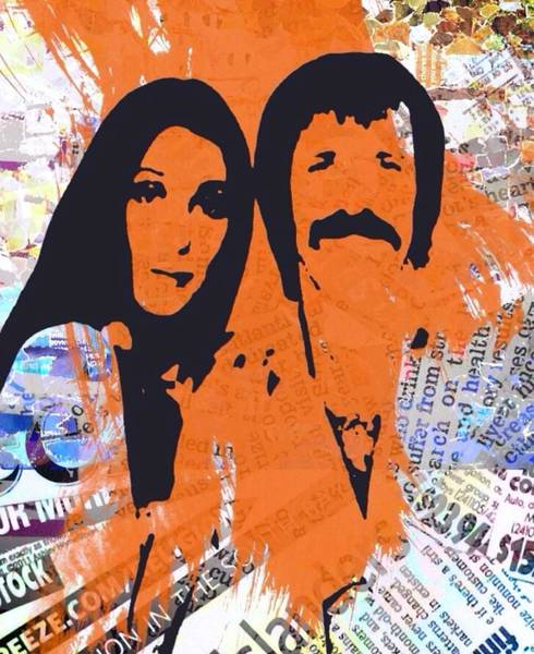 Sonny Bono Wall Art - Digital Art - Sonny And Cher by Trisha Buchanan