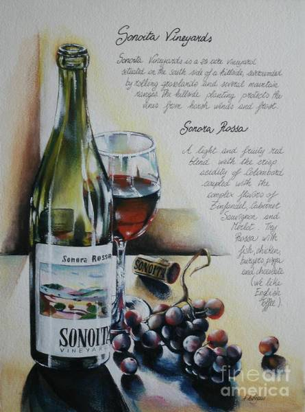 Print On Demand Wall Art - Painting - Sonoita Vineyards by Alessandra Andrisani