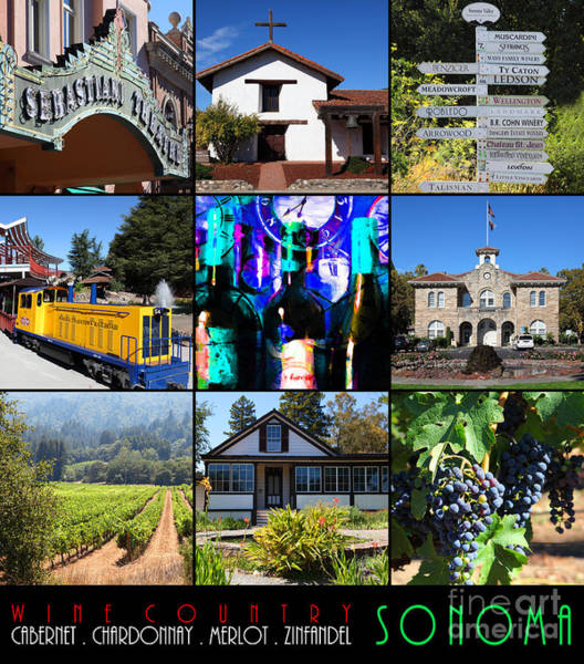 Photograph - Sonoma County Wine Country 20140906 With Text by Wingsdomain Art and Photography