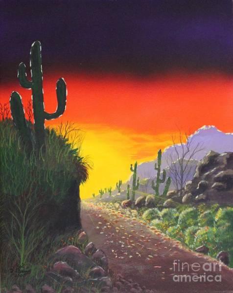 Mixed Media - Sonoran Sunrise by Bob Williams