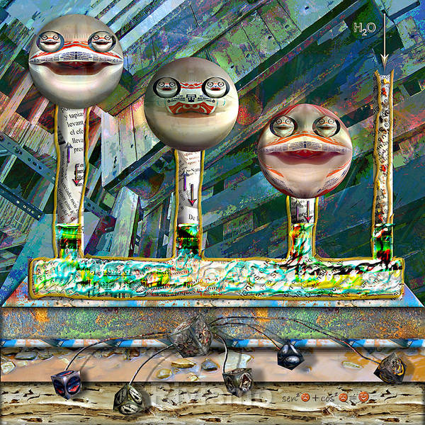 Sonrisa Wall Art - Painting - Sonrisa Comunicante II by Ramon Rivas - Rivismo