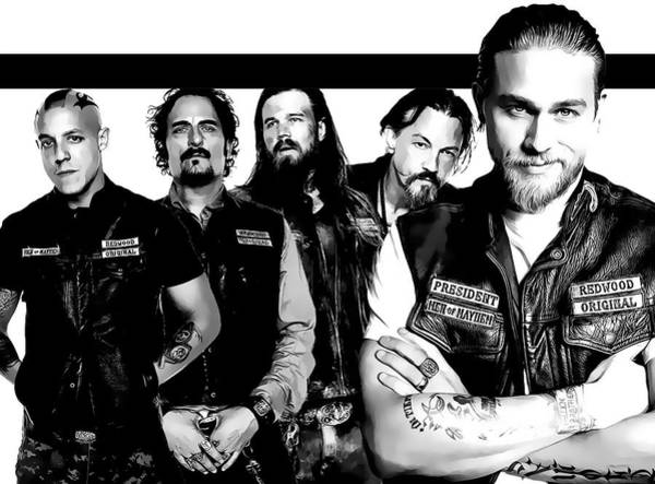 Son Digital Art - Sons Of Anarchy by Anibal Diaz