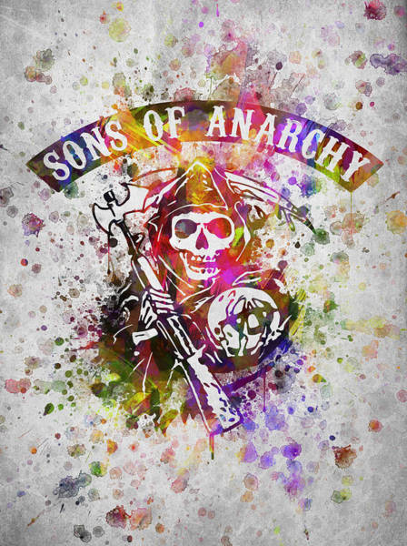 Son Digital Art - Sons Of Anarchy In Color by Aged Pixel