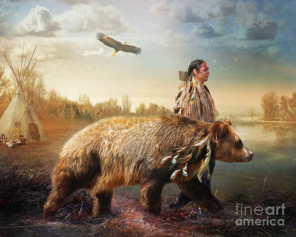 Feather River Wall Art - Digital Art - Sons Of The Earth by Trudi Simmonds