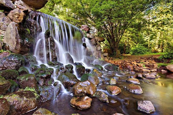 Photograph - Sonsbeek Waterfall / Arnhem by Barry O Carroll