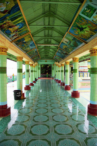 Tile Floor Wall Art - Photograph - Soon Oo Ponya Shin Pag, Sagaing by Kylie Mclaughlin
