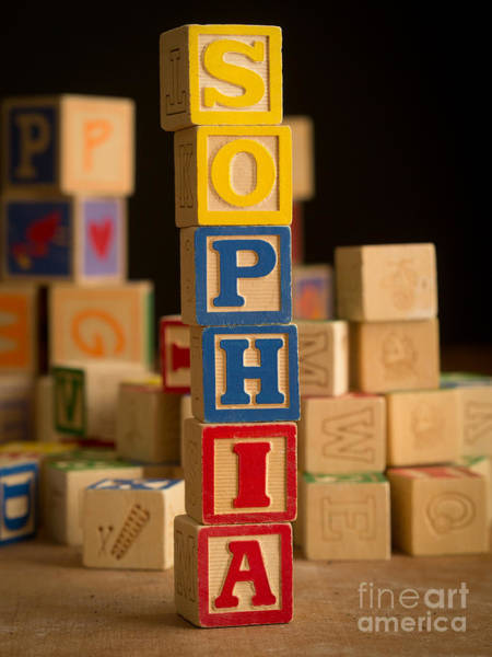 Sophia Photograph - Sophia - Alphabet Blocks by Edward Fielding