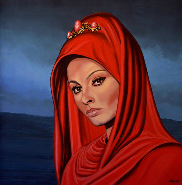 Marriage Painting - Sophia Loren 2  by Paul Meijering