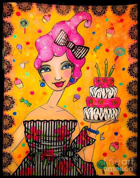 Zebra Cake Wall Art - Mixed Media - Sophisti-cake by Julissie Saltzberg