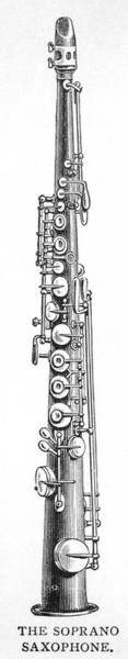 Sax Drawing - Soprano Saxophone  One Of A  Family by Mary Evans Picture Library