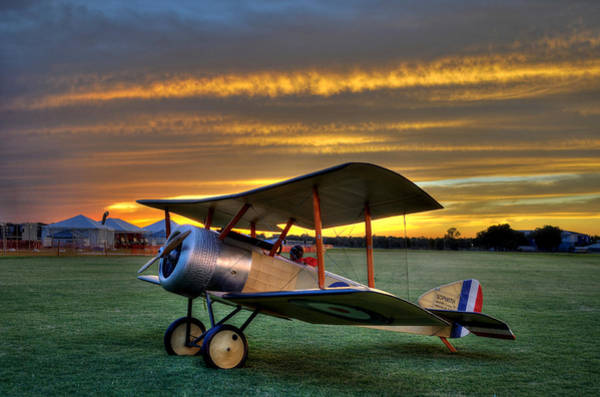 Sopwith Sunset Art Print