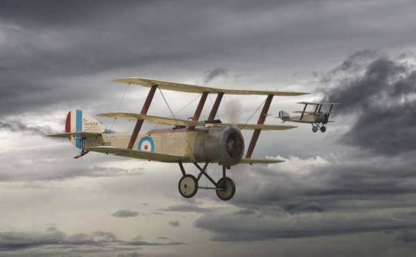 World War 1 Digital Art - Sopwith Triplane by Pat Speirs