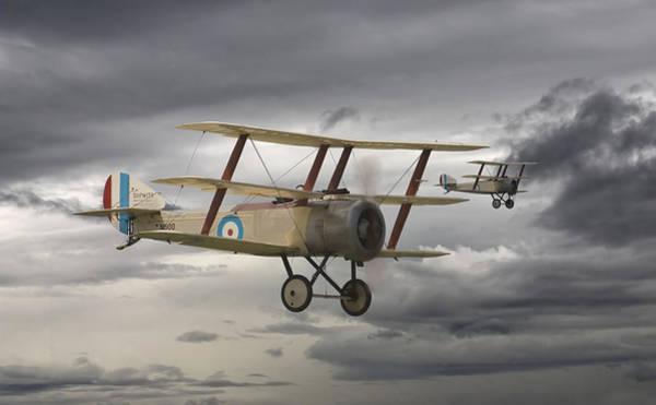 Se5 Digital Art - Sopwith Triplane by Pat Speirs