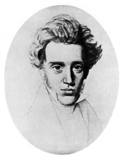 Drawing - Soren Kierkegaard (1813-1855) by Granger