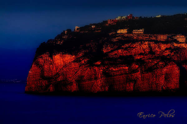 Photograph - Sorrento Coast By Night by Enrico Pelos