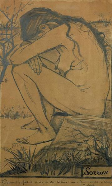 Painter Photograph - Sorrow, 1882 Pencil, Pen And Ink by Vincent van Gogh