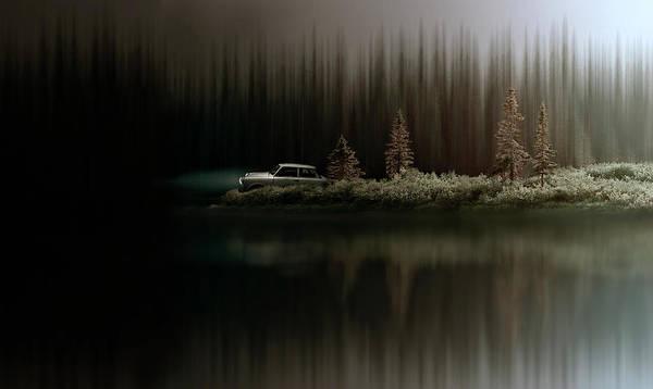 Car Photograph - Sortie De Route 5 by David Senechal Photographie