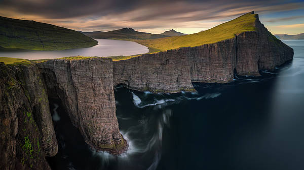 Cliffs Wall Art - Photograph - Sorvagsvatn by Wojciech Kruczynski