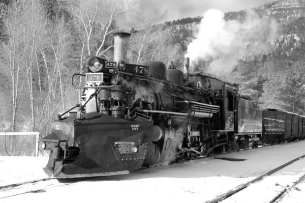 K-28 Photograph - Sothbound Through Rockwood Black And White by Ken Smith