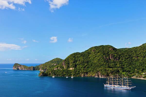 Headlands Photograph - Soufrière Bay, St. Lucia by Argalis