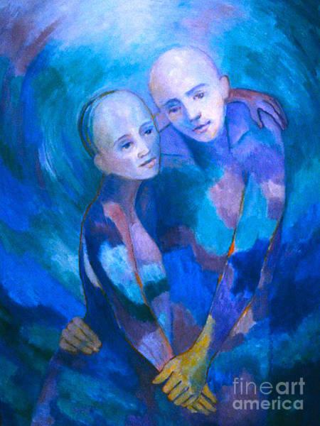 Painting - Soul Mates 1 by Nancy Wait