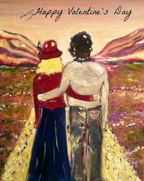 Painting - Soul Mates Happy Valentine's Day by Jacqui Hawk