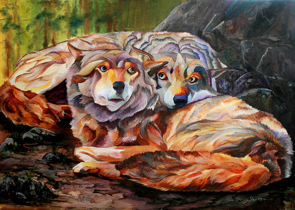 Painting - Soul Mates by Sherry Shipley
