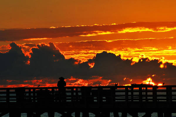 Flagler Beach Photograph - Soul On Fire by Victor Rugg