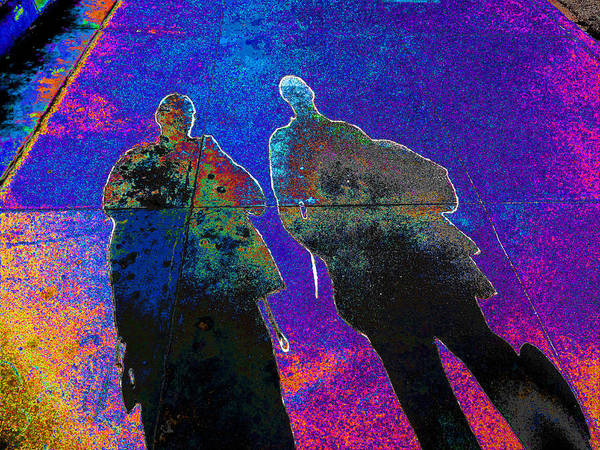 souls of 2 Veterans walking on Broadway - Glendale that is v3 Art Print