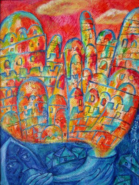 Wall Art - Painting - Sound Of Shofar by Leon Zernitsky