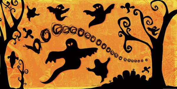 Boo Wall Art - Painting - Sounds Like Halloween II by Belinda Aldrich