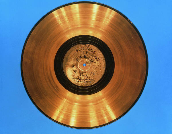 Lp Wall Art - Photograph - 'sounds Of Earth' Record Before Storage On Voyager by Nasa/science Photo Library
