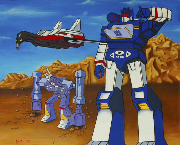 Transformer Painting - Soundwave by Travis Radcliffe
