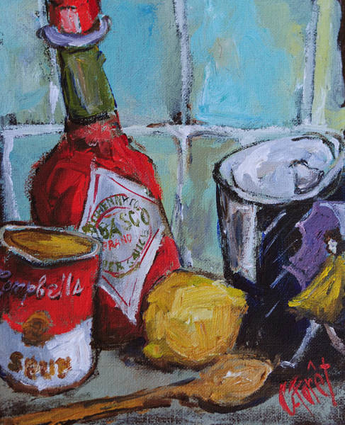 Wall Art - Painting - Soup Kitchen by Carole Foret