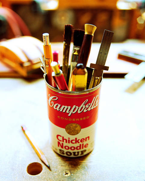 Tin Can Wall Art - Photograph - Soupcan by Yo Pedro