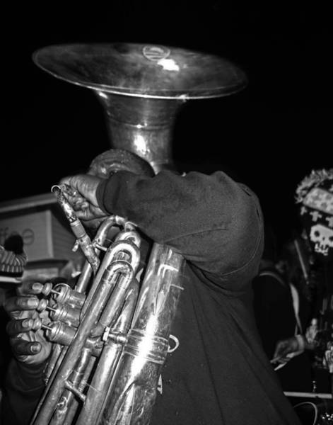 Photograph - Sousaphone Player In New Orleans by Louis Maistros