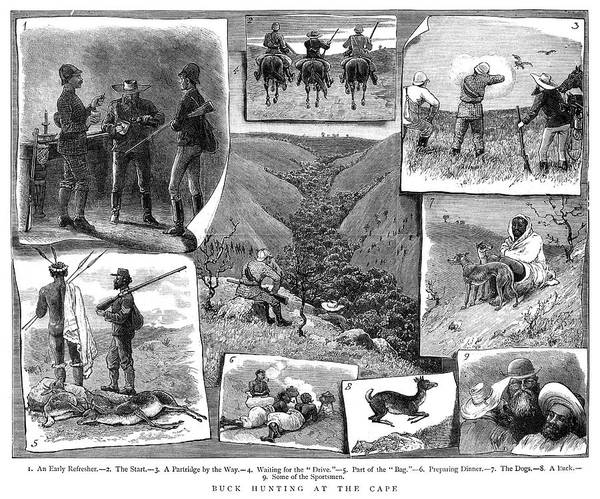 Wall Art - Painting - South Africa Hunting, 1884 by Granger