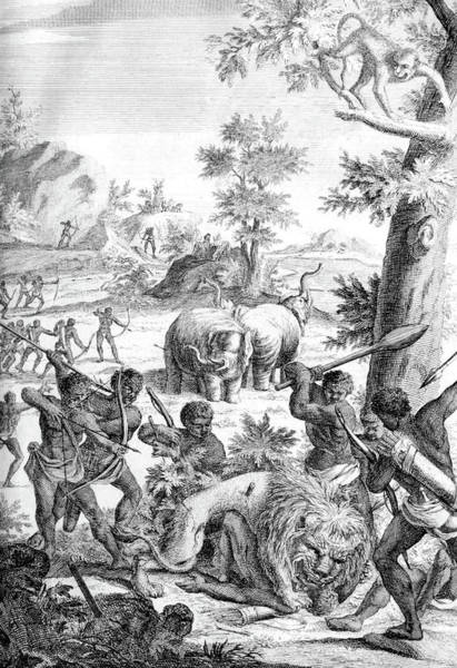 Arica Photograph - South Africa, Khoikhoi Hunting Party by Science Source