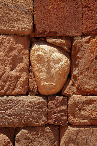 Aymara Wall Art - Photograph - South America, Bolivia, Tiwanaku by Kymri Wilt