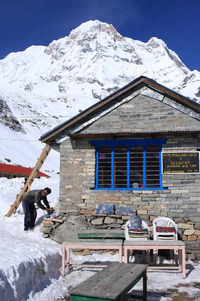 Wall Art - Photograph - South Annapurna Base Camp by Aidan Moran