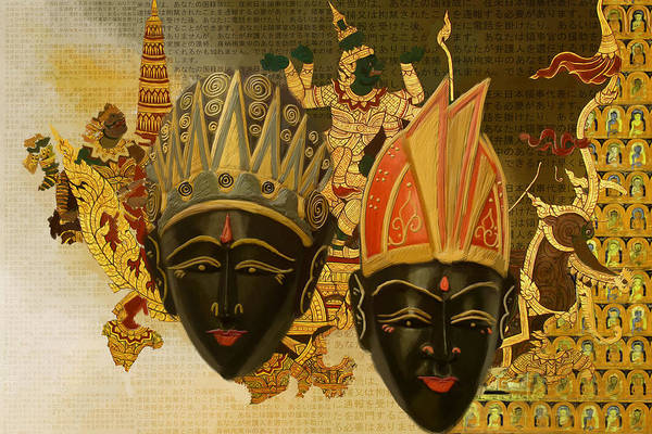 Chinese Buddha Painting - South Asian Art by Corporate Art Task Force